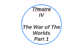 Lesson 13-17: Theatre IV: War of The Worlds