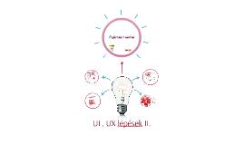 UI és UX tervezés II.