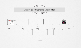 Cigars to Electronic Cigarettes