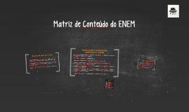 Matriz de Conteúdo do ENEM