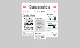 Crónica de noticias