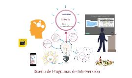 Diseño de Programas de Intervención