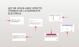 LEY DE JOULE-LENZ: EFECTO TÉRMICO DE LA CORRIENTE ELÉCTRICA