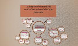 Conceptualización de la multidimensionalidad y la opresión