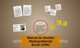 Manual de Gestión Medioambiental