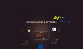 Copy of Administración por valores