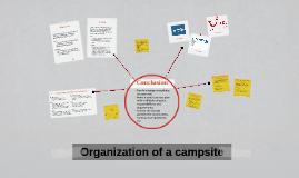 Organization of a campsite