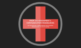 PROF 240 ASSIGNMENT 1: Communication Roadblocks