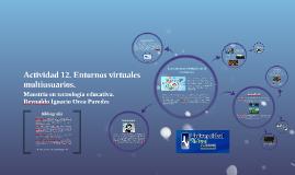 Actividad 12. Entornos virtuales multiusuarios.
