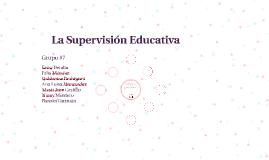 La Supervisión Educativa