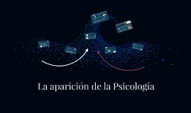 La aparición de la Psicología