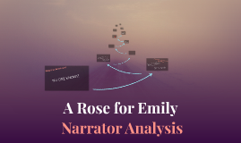 """a rose for emily narrator essay Below you will find five outstanding thesis statements for """"a rose for emily"""" by anonymous narrator in """"a rose for emily of miss emily in this essay."""