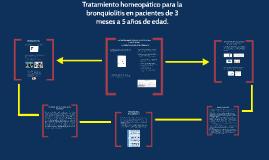 Tratamiento homeopático para la bronquiolitis en pacientes de 3 meses a 5 años de edad