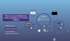 Nedostaci na preddiplomskom studiju psihologije na Hrvatskim