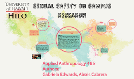 Sexual Safety on campus research