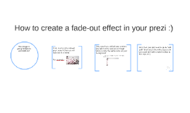 How to create a fade-out effect in your prezi