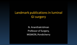 Landmark publications in luminal GI surgery
