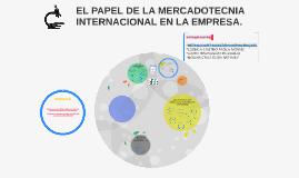 EL PAPEL DE LA MERCADOTECNIA INTERNACIONAL EN LA EMPRESA.