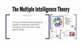 The Multiple Intelligence Theory