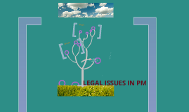 LEGAL ISSUES IN PROJECT MANAGEMENT