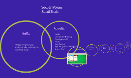 Poetry Anthology about Soccer- By Rahil Shah