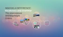 Vocabulary: The Environment