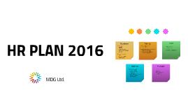 HR PLAN 2016