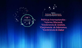 Copy of Copy of Politicas Internacionales : Informe Warnock, Conferencia  de