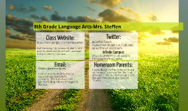 8th Grade Language Arts-Mrs. Steffen