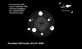 Presentacion de Julio, Agosto y Septiembre 2016