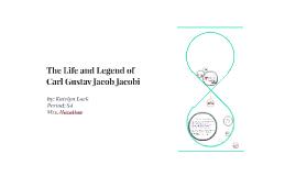 The Life and Legend of Carl Gustav Jacob Jacobi