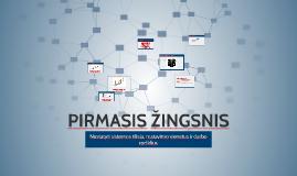 PIRMASIS ŽINGSNIS