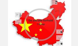 De sociale forhold i Kina