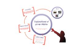 Group Display as an adaptive behaviour