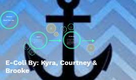 Copy of E-Coli By: Kyra, Courtney & Brooke