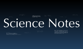 Science Notes: Chapter 5