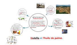 Nutella et l'huile de palme.