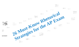 Copy of Rhetorical Strategies for the AP Language Exam