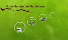 Green Architecture Vocabulary