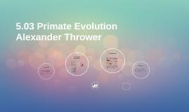 5.03 Primate Evolution