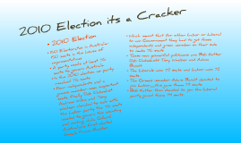 2010 Election its a Cracker
