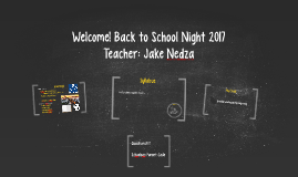 Welcome! Back to School Night 2016