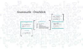 Grammatik - Överblick