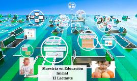 Maestría en Educación Inicial  El Lactante