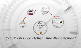 Quick Tips For Better Time Management