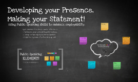 Developing your Prescence  Making your Statement!