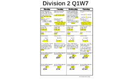 Division 2 Q1W7
