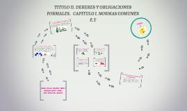 TITULO II. DEBERES Y OBLIGACIONES FORMALES.   CAPITULO I. NO