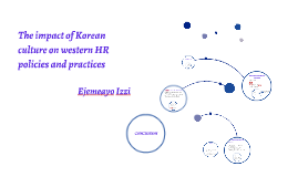 Copy of The impact of Korean culture on western HR policies and prac