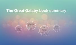 The Great Gatsby book summary